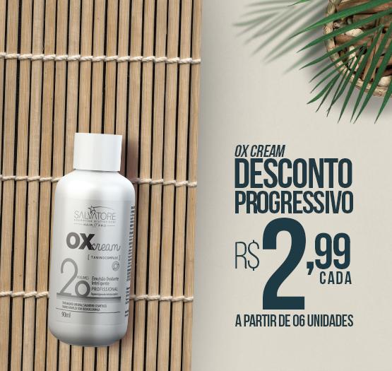 ox cream 90ml desconto progressivo a partir de 06 unidades