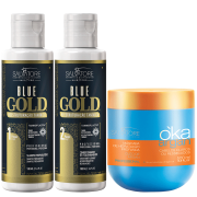 Kit Blue Gold 100 ml + Masc. Oka Argan 500ml