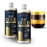 Kit Blue Gold (Passo 1 + Passo 2) 1L + Cond Ojon 500ml