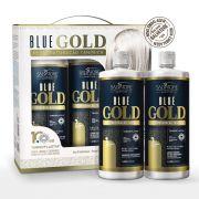 Kit Blue Gold Realinhamento Capilar  (Passo 1 + Passo 2)  1L