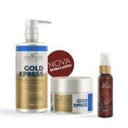 Kit Gold Xpress Cliente (Shp. 480ml + Cond. 250ml ) Óleo Oless 60 ml