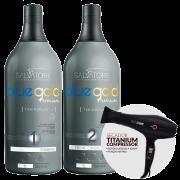 Secador TITANIUM + Kit Blue Gold Premium 1L
