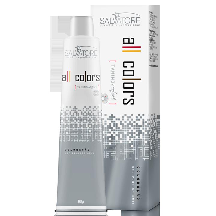 Coloração 10.1 Louro Claríssimo Cinza All Colors 60g - caixa com 12 unidades.
