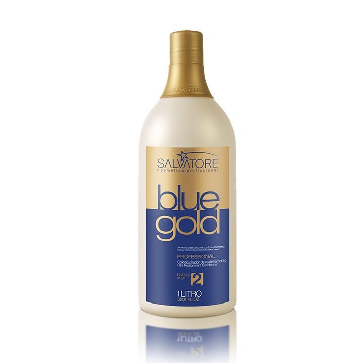 Creme Condicionante Blue Gold 1 Litro Passo 2 - Realinhamento Capilar - Taninoplastia