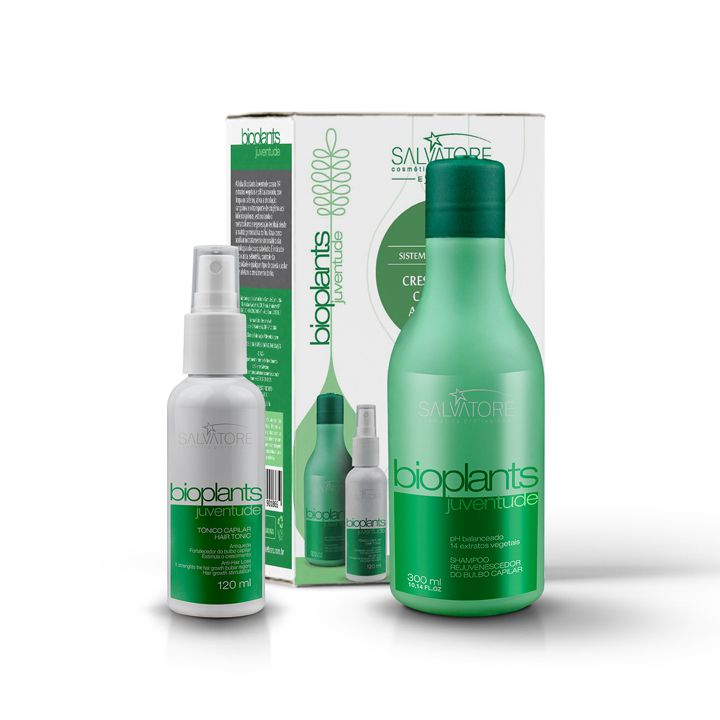 Kit Bioplants Juventude Shampoo Fort +Tônico 120mL