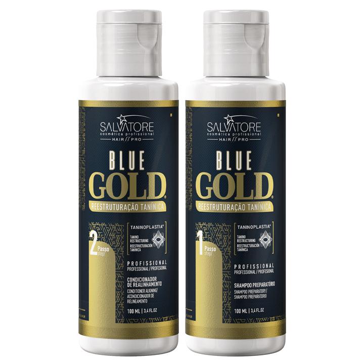 Kit Blue Gold 100 ml + Masc. Oka Macadamia 500ml