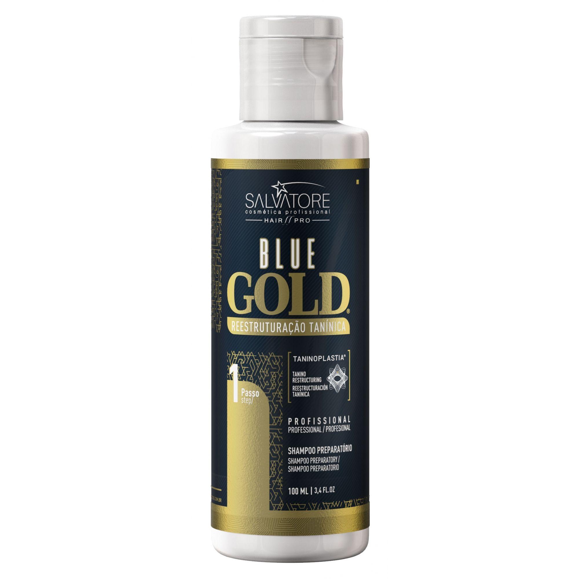 Kit Blue Gold  (Passo 1 + Passo 2)  100ml - Realinhamento Capilar