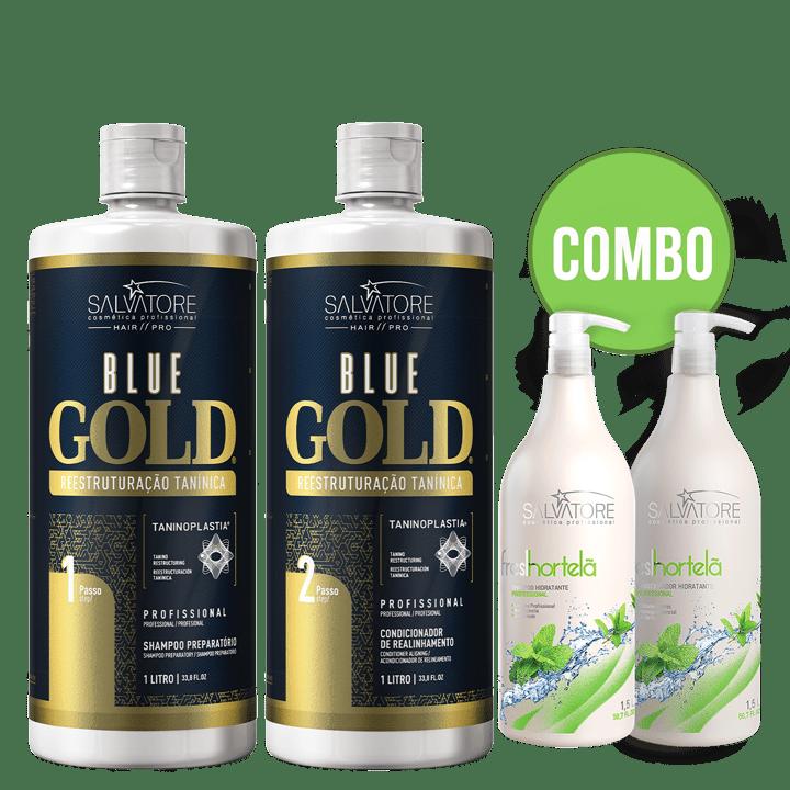 Kit Blue Gold 1L + Kit lavatório Fresh Hortelã 1,5L
