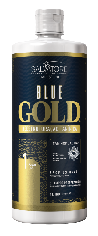 Kit Blue Gold 1 Litro - 10 anos de Taninoplastia + Brinde