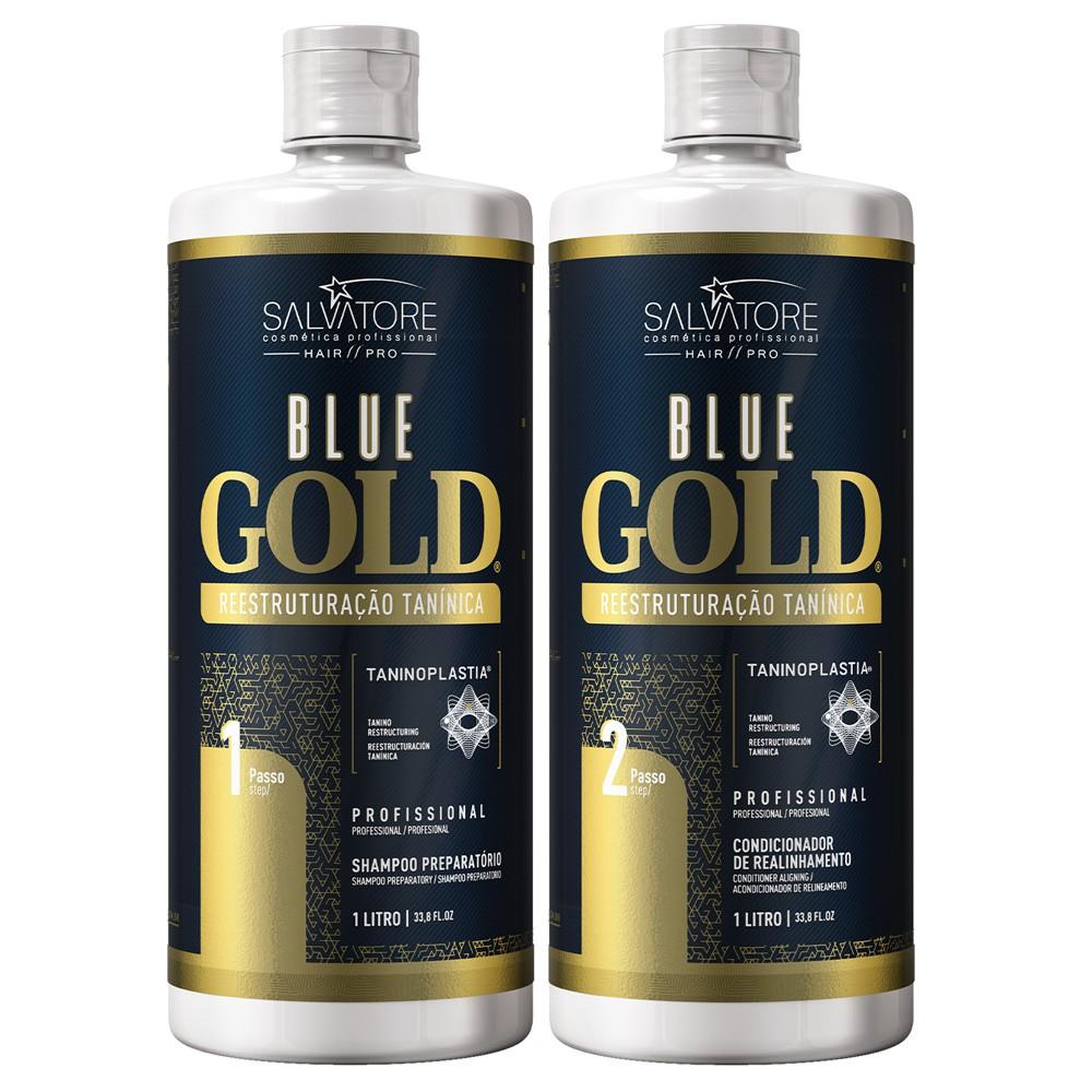 Kit Blue Gold Passo 1 e 2 1l - Realinhamento Capilar