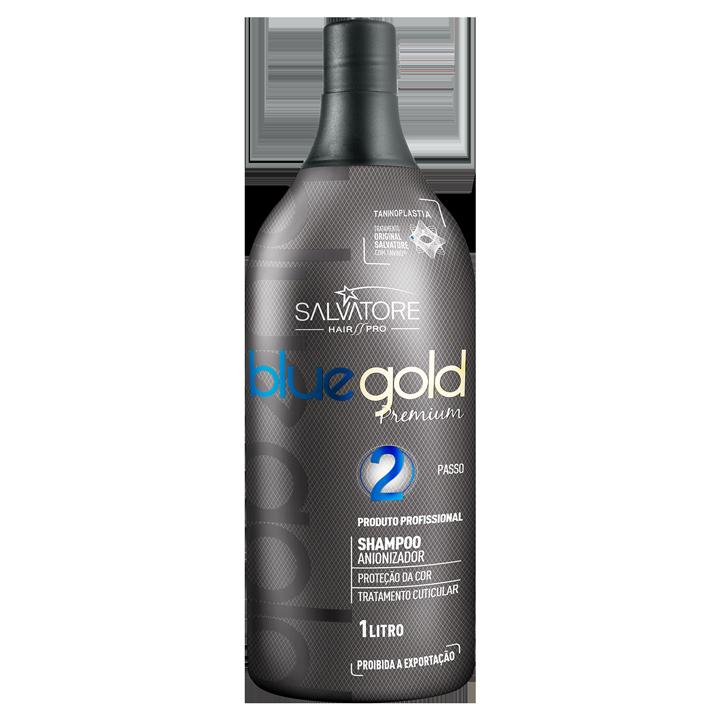 Kit Blue Gold Premium Passo 1 e 2 1L - Realinhamento Capilar