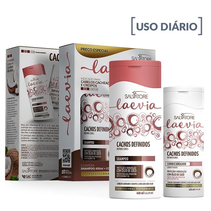 Kit Laevia Cachos Definidos (Sampoo. 400ml + Cond. 180ml)