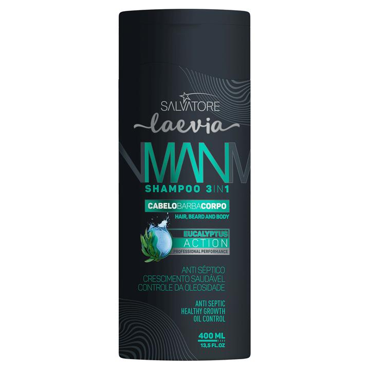 Kit Laevia Eucalyptus Action  3em1 (Shampoo 400ml + Pomada Modeladora 100ml)