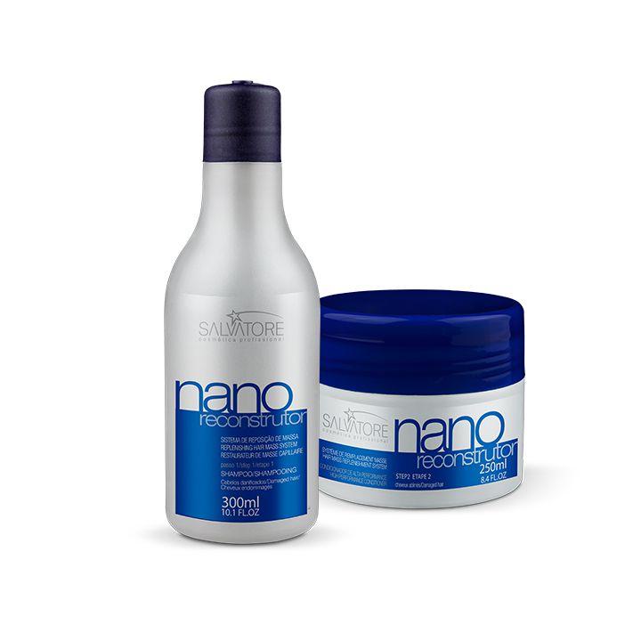 Kit Nano Reconstrutor Cliente (Sh 300ml + Másc. Condicionante 250ml) Reconstrução Capilar Completa