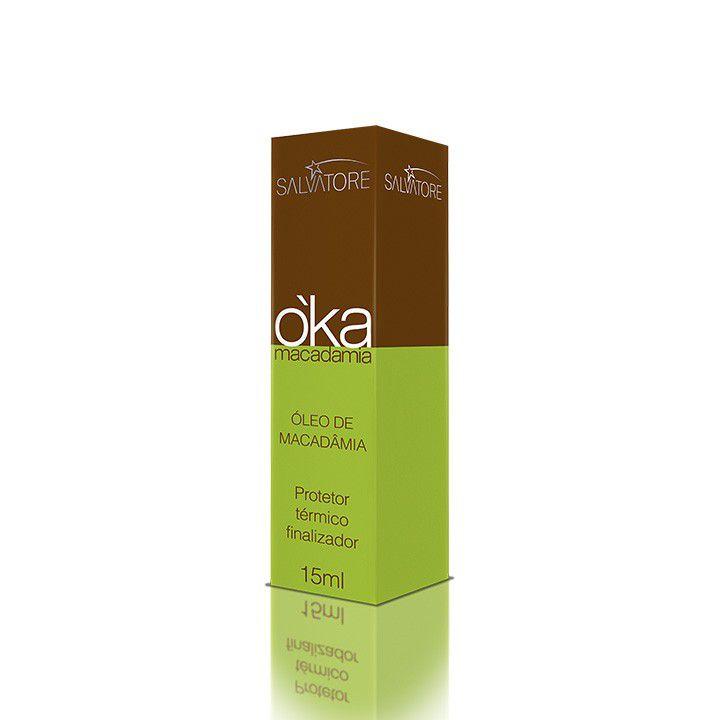 Kit OKA Macadâmia Cliente (Sh 300ml + Másc. Condicionante 250ml ) Óleo 15ml