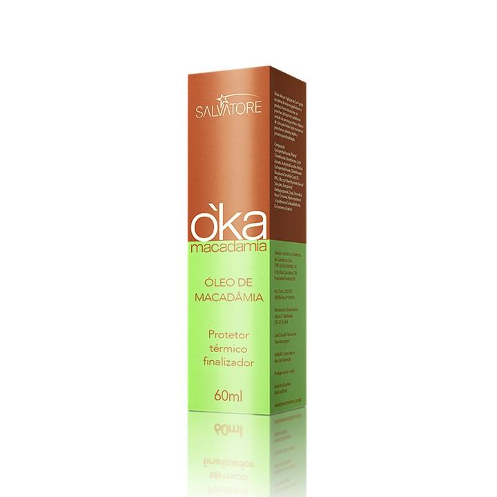 Óleo OKA Macadâmia Profissional 60ml - Finalizador Hidratante para Cabelos Cacheados e Ondulados