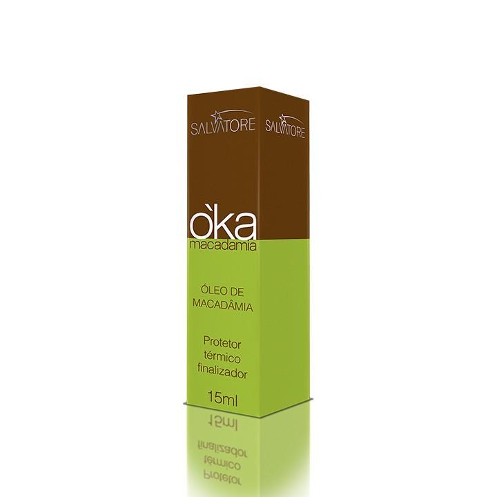 Óleo O'KA Macadâmia Cliente 15 Ml - Óleo Hidratante Para Cabelos Cacheados