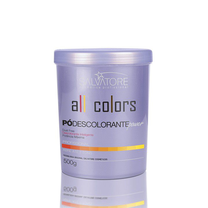Pó Descolorante Power All Colors  Profissional 500g - Intenso Clareador