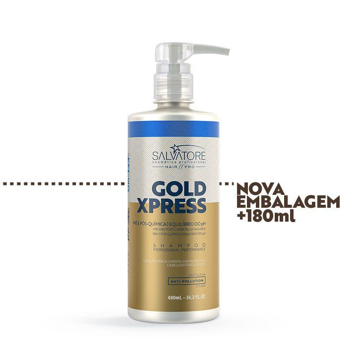 Shampoo Gold Xpress Cliente 480ml - Pós Química e Alisamentos