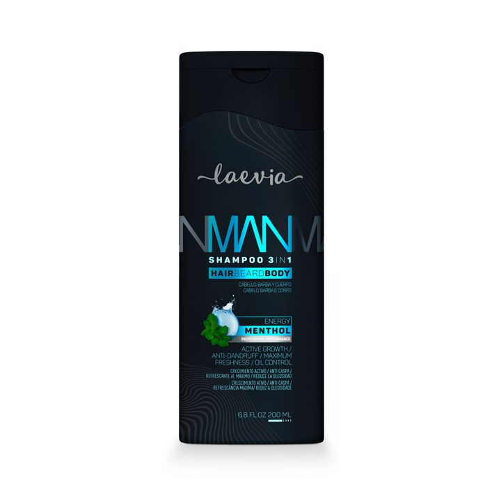 Shampoo Laevia Man 3 em 1 Mentha -200 ml