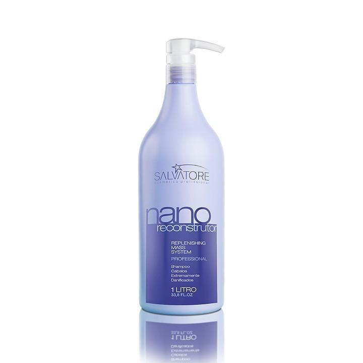 Shampoo Nano Reconstrutora Profissional 1 Litro - Shampoo Para Serviços de Reconstrução Capilar
