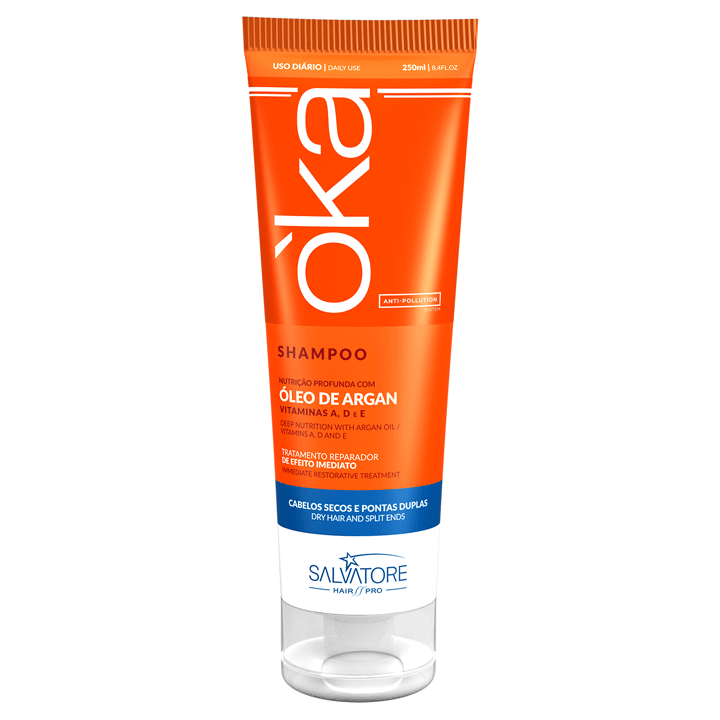 Shampoo O'ka Argan - Alto Poder Nutritivo e Reparador 250ml