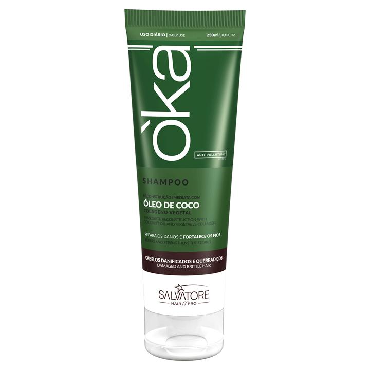 Shampoo O'ka Coco - Repara os Danos e Fortalece os Fios 250 ml