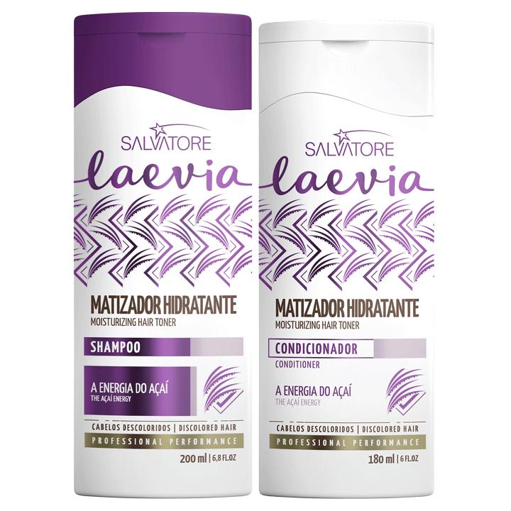 Uso Diário - Kit Matizador Hidratante Laevia Shampoo 200ml + Condicionador 180 ml