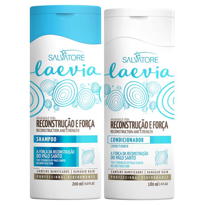Uso Diário - Kit Reconstrução e Força  Laevia Shampoo 200ml + Condicionador 180 ml