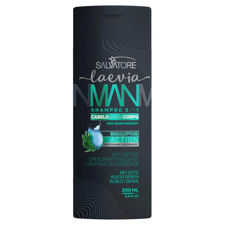 Uso Diário - Shampoo Laevia Man 3 em 1 Eucalipto 200 ml