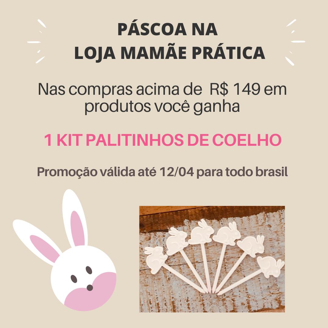 ganhe 1 kit palitinhos de coelho nas compras a partir de r$ 149,00