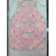 Avental infantil de plástico - rosa