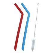 Canudos coloridos de silicone
