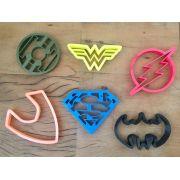 Cortador Heróis Liga da Justiça - grande (6 peças)