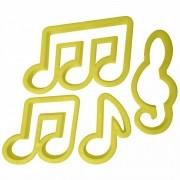 Cortador Notas Musicais (4 peças)