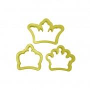 Cortador Coroa - grande (3 peças)