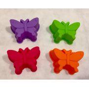Forma de silicone para cupcake - borboleta (4 peças)
