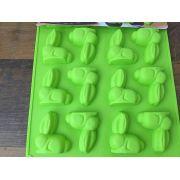 Forma silicone coelhinho - Para 16 coelhos