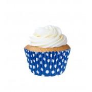 Forminha Cupcake Azul - 45 unidades (papel)