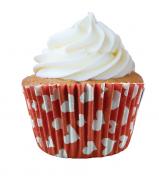 Forminha Cupcake Coração - 45 unidades (papel)