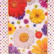 Guardanapos decorados - flores coloridas