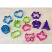Kit cortadores coloridos - 12 peças