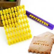 Molde Biscoito Letras e Números