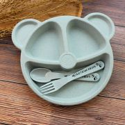 Prato Urso c/ divisórias - Azul Aço (plástico biodegradável)