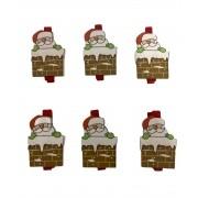 Prendedor Decorativo Natal - 6 unidades