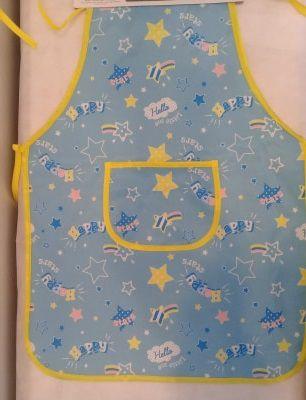 Avental infantil de plástico - azul
