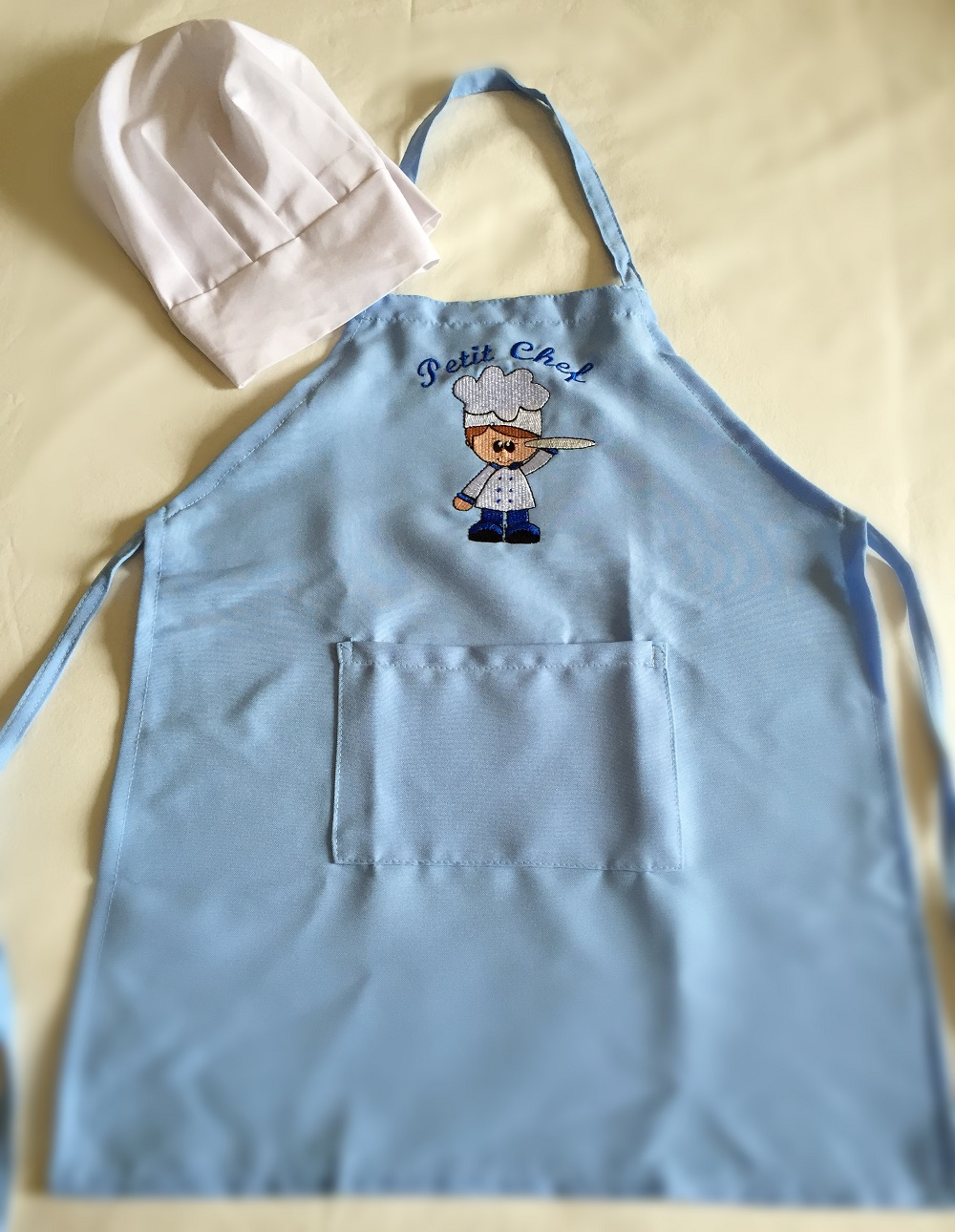 Avental Infantil Menino  + chapéu mestre-cuca