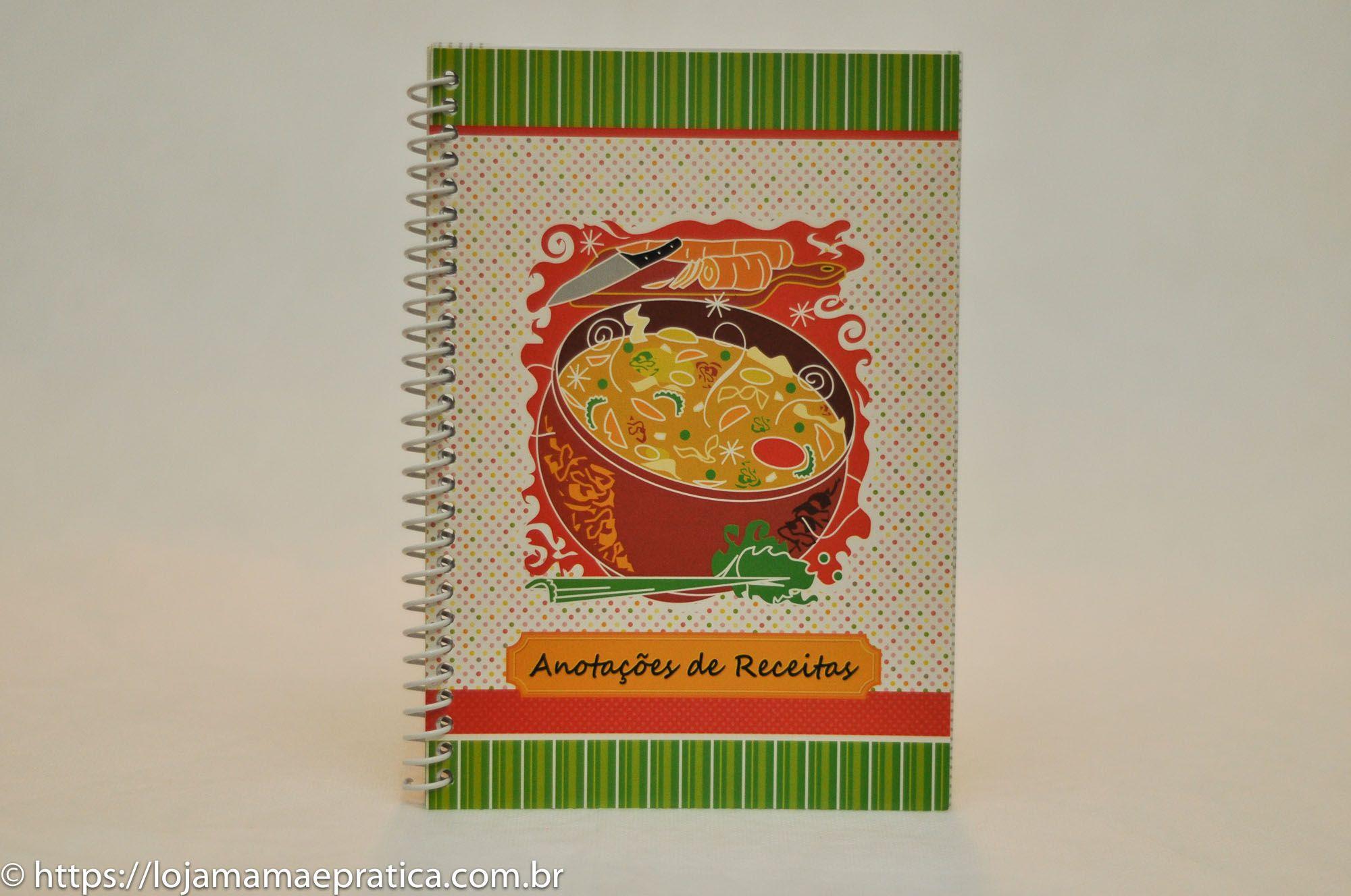 Caderno de receitas - 65 folhas