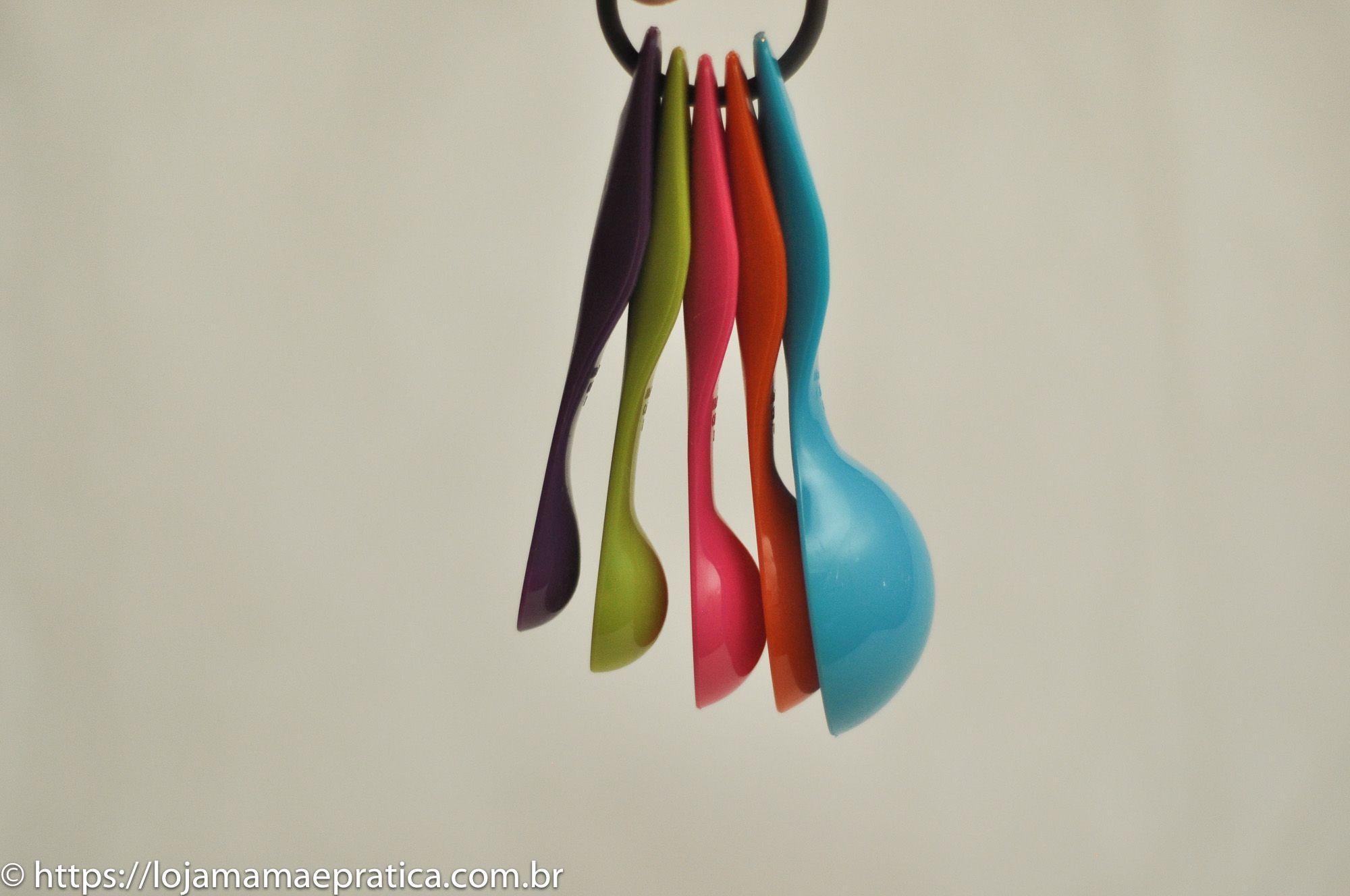 Colheres medidoras coloridas - 5 peças
