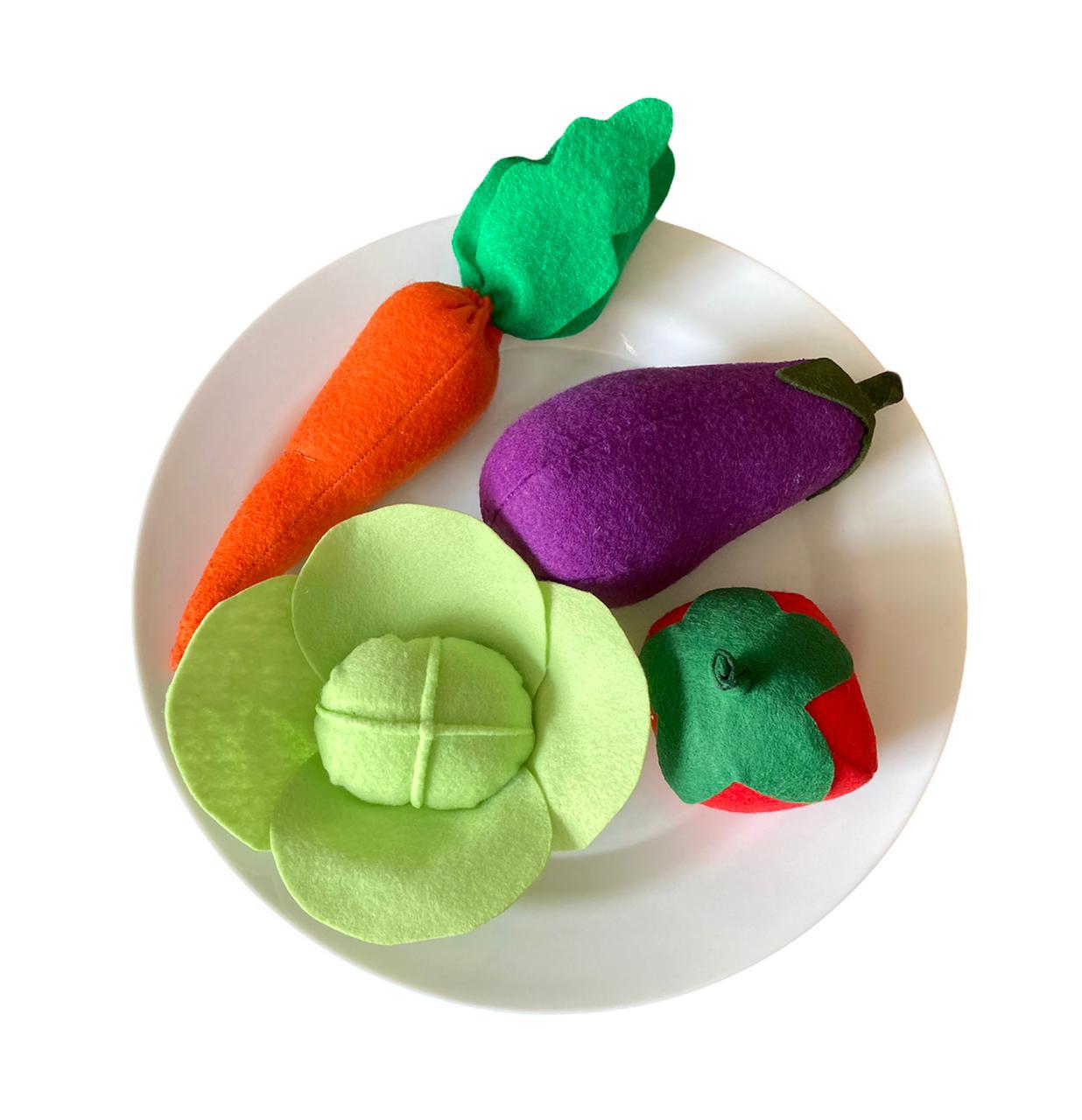 Comidinhas de Feltro - Legumes e Verduras
